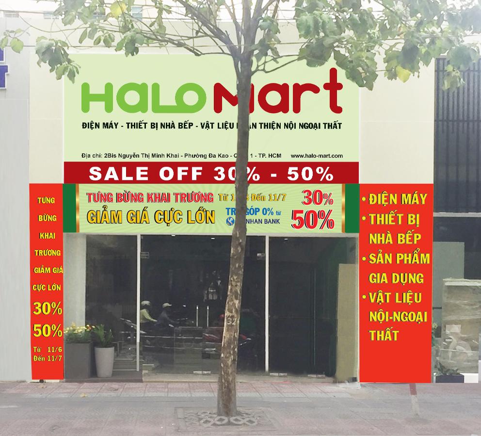 HALO GROUP Khuyến mại lớn nhân dịp khai trương Siêu thị HALO MART