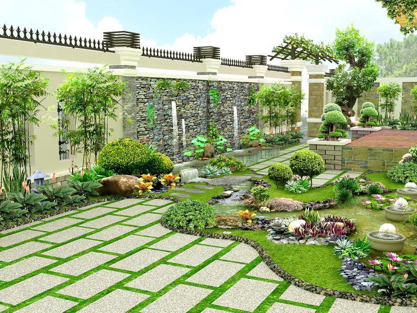 Thiết kế sân vườn đẹp ấn tượng cho biệt thự và nhà phố
