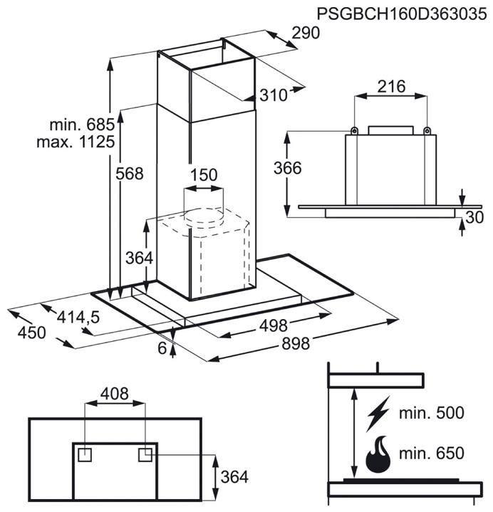Máy hút mùi - DTB5960HM