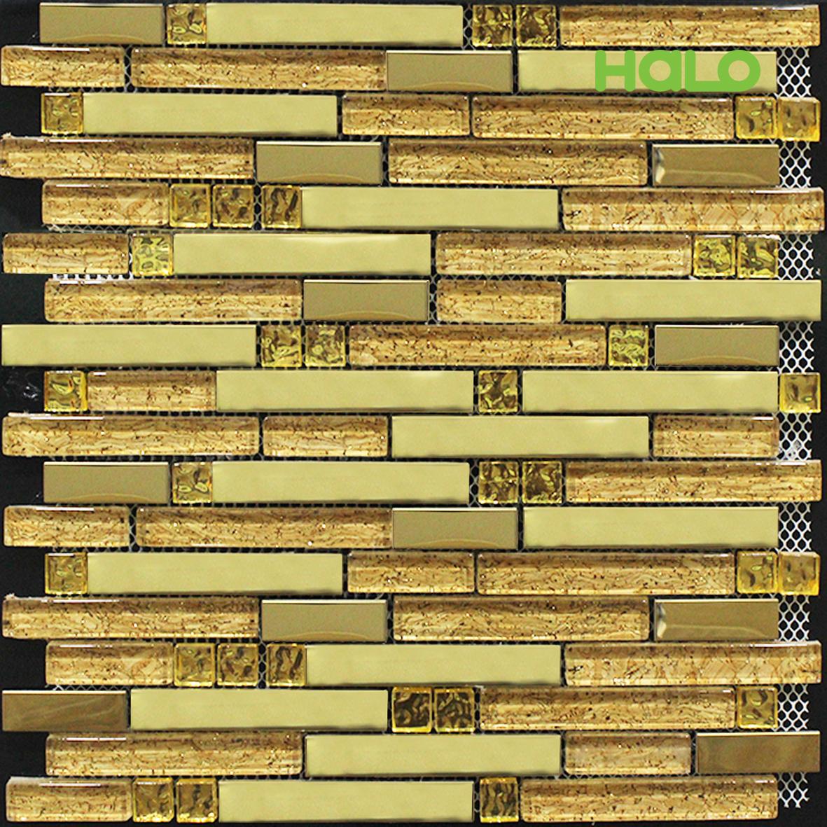 Gạch mosaic kim loại
