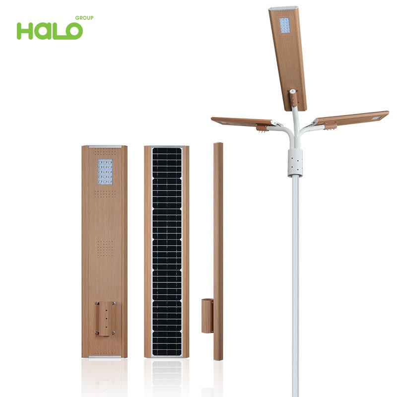 Đèn đường năng lượng mặt trời kháng nước cảm ứng nhiệt thông minh 0320B30-03