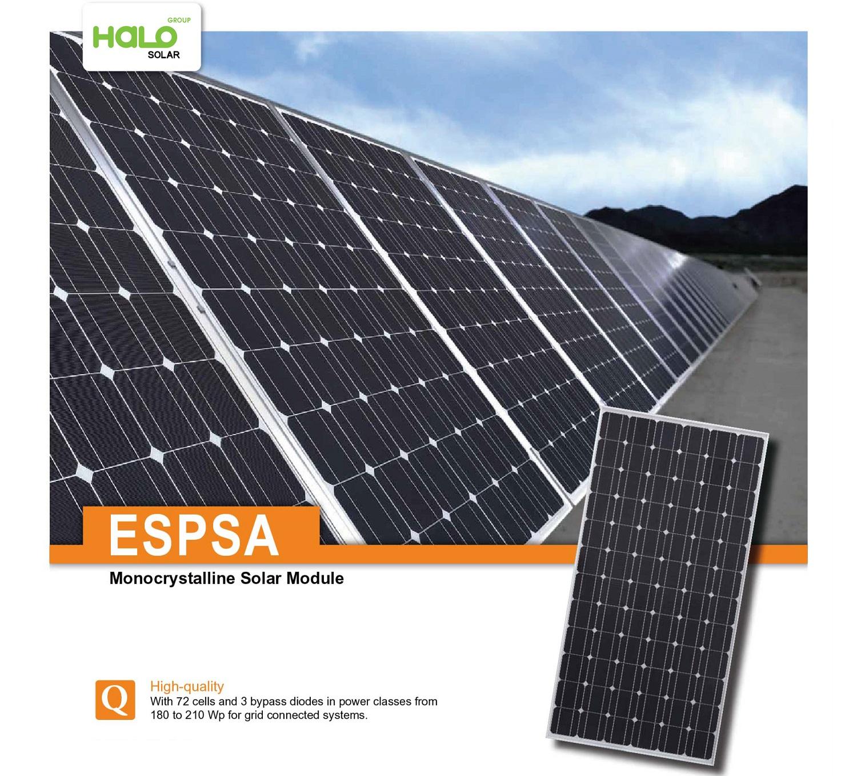 Tấm pin năng lượng mặt trời ESPSA 180-210