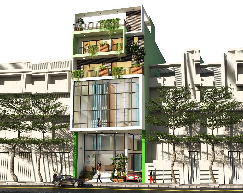 HaloCons thiết kế - xây dựng công trình Văn phòng kết hợp nhà ở Gia đình 8 tầng