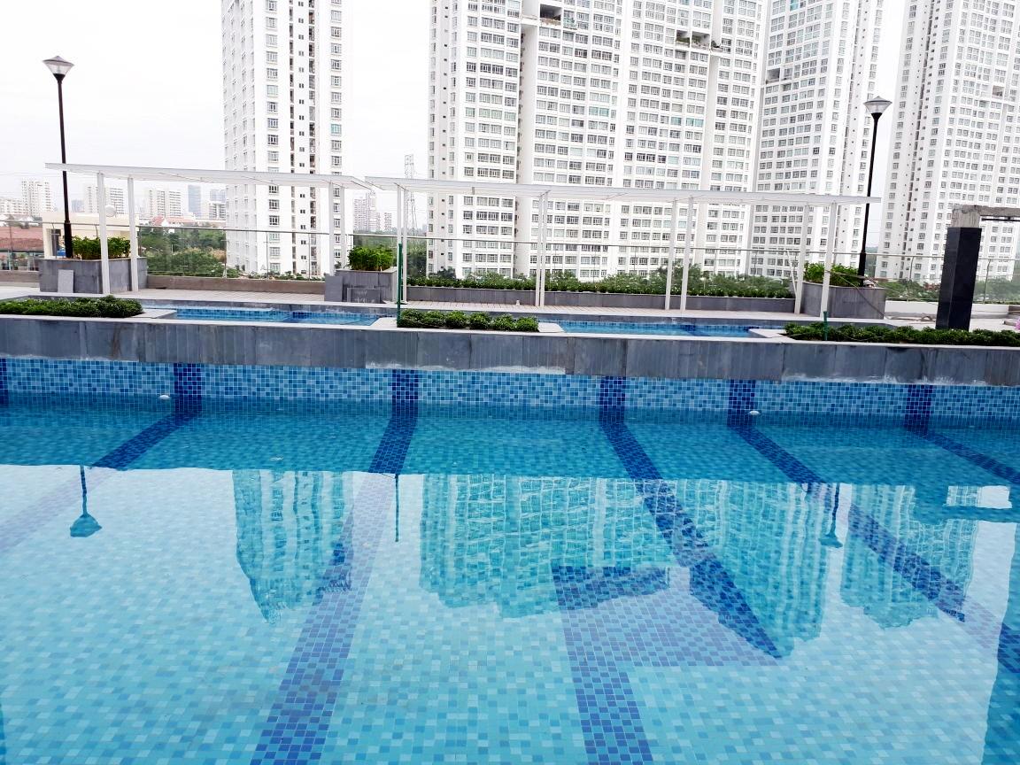 HALOCONS thi công hoàn thiện hồ bơi và landscape dự án Silver