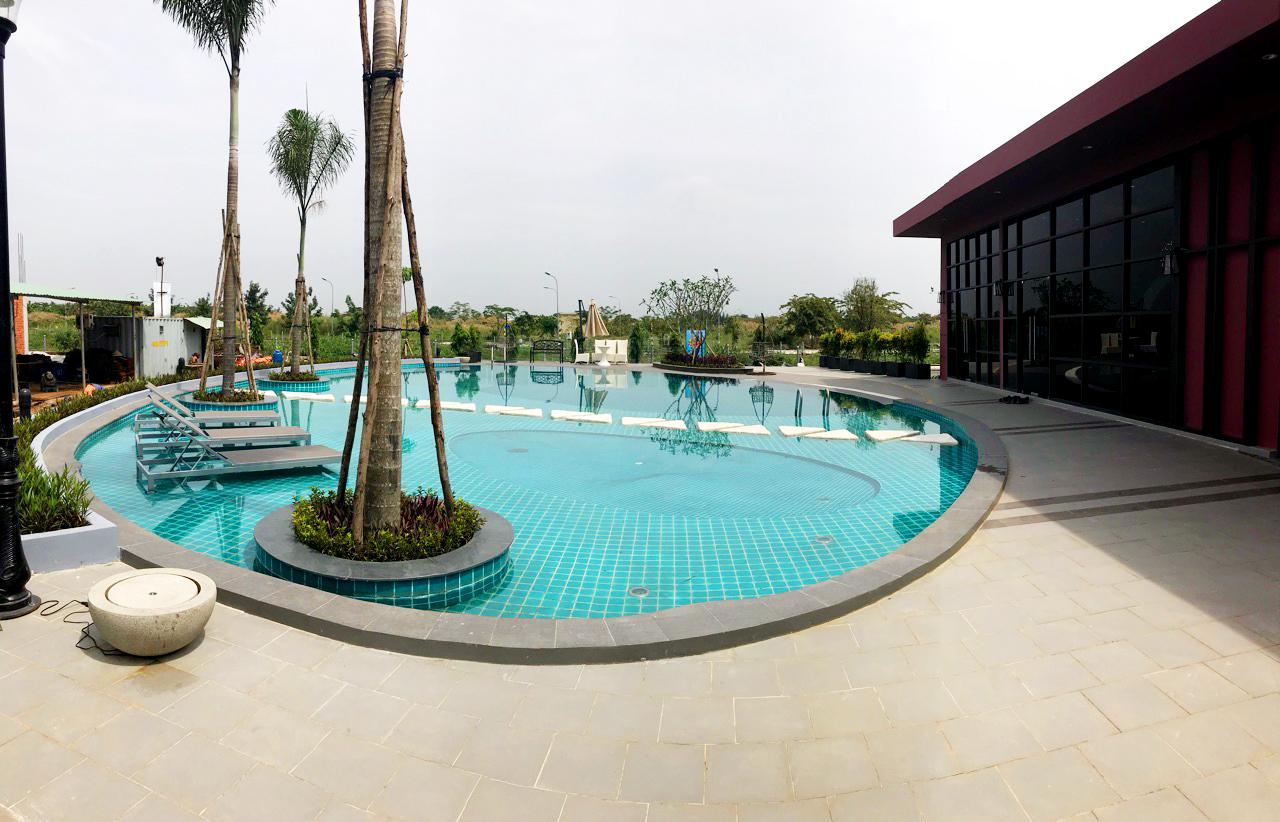 HALOCONS thi công xây dựng hoàn thiện hồ bơi dự án Valencia