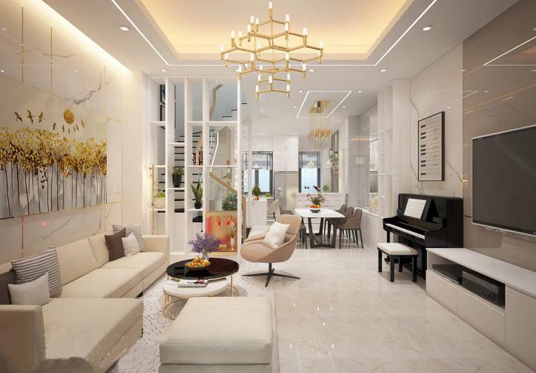 Gợi ý thiết kế nội thất phòng khách theo từng diện tích
