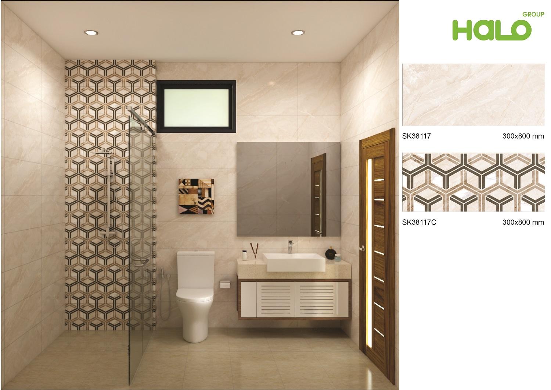 Gạch bộ ốp HALO - sáng tạo trong thiết kế giúp không gian phòng tắm hiện đại và tinh tế