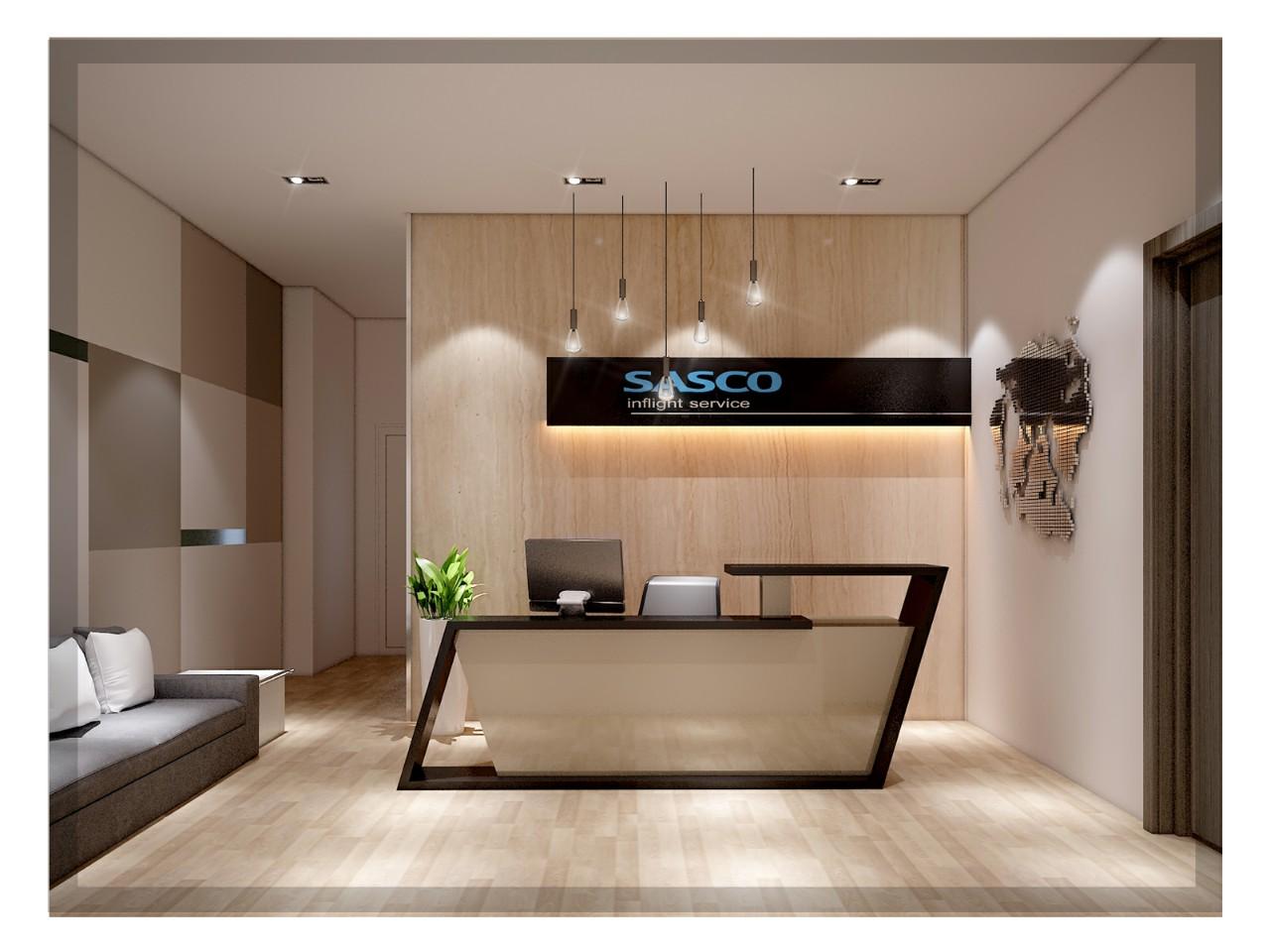 HaloCons thiết kế và thi công hoàn thiện nội thất văn phòng Sasco sân bay