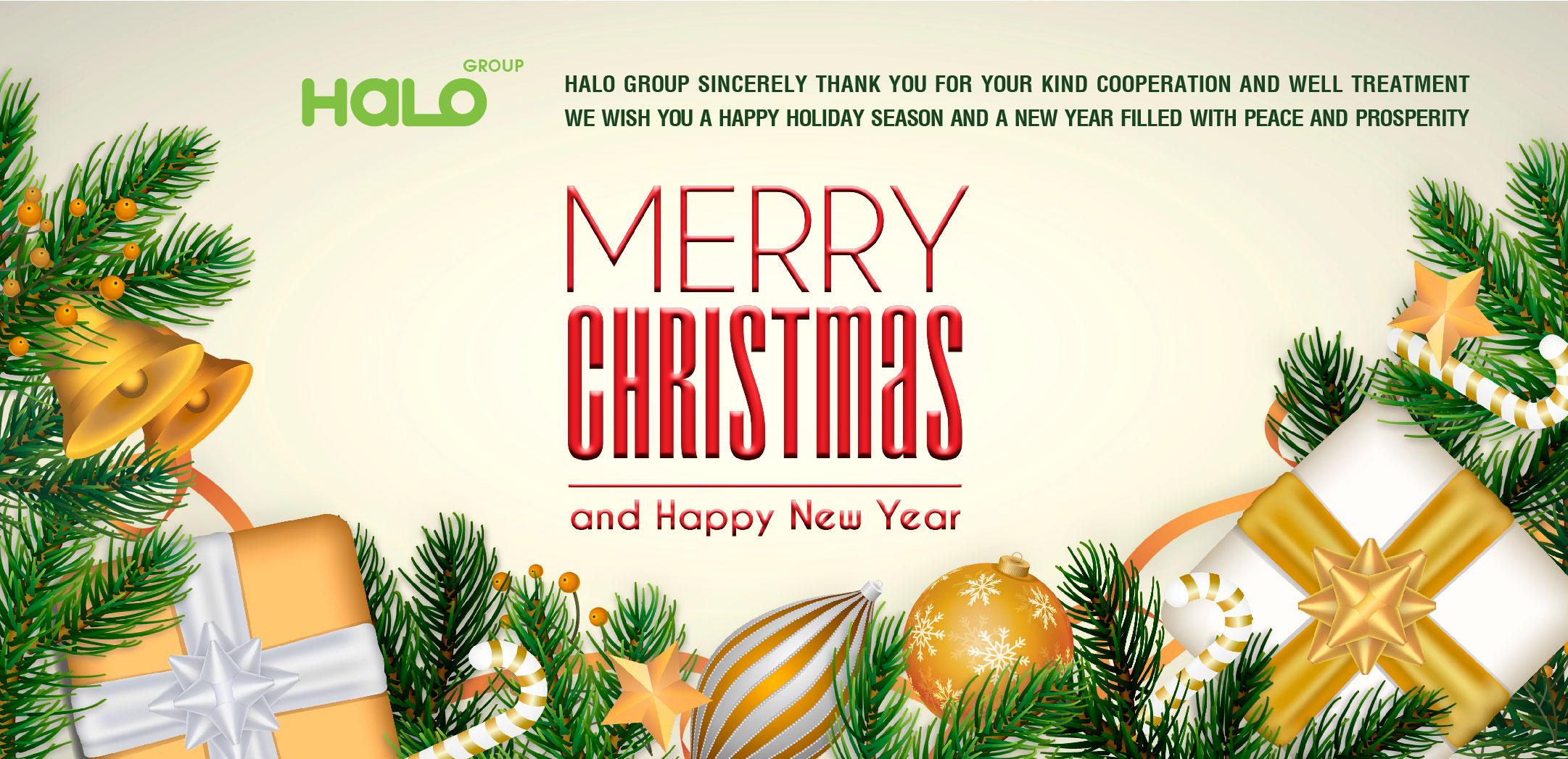 Halo Group gửi lời chúc mừng Giáng sinh và năm mới tới Quý Khách hàng, Đối tác