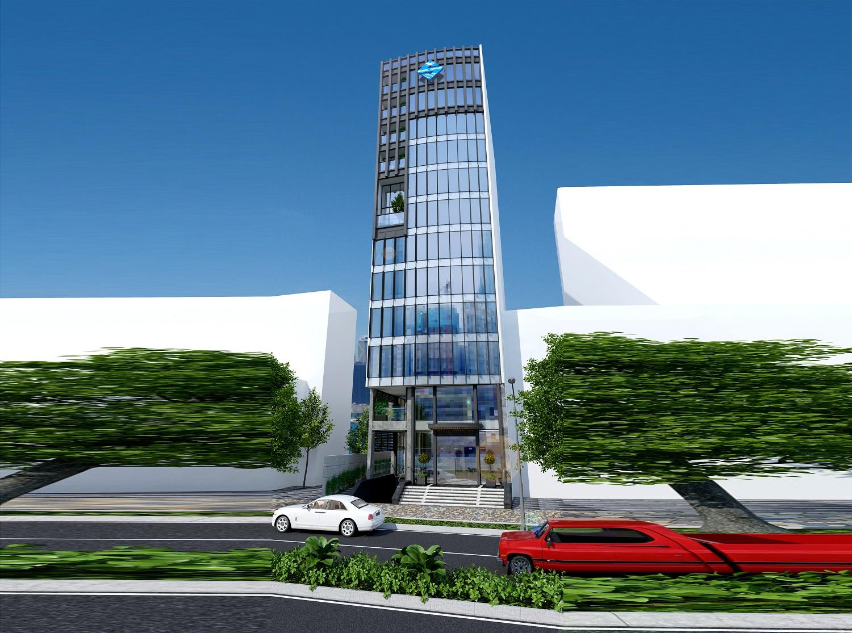 HaloCons - Thiết kế, thi công xây dựng tòa nhà Văn phòng 13 tầng