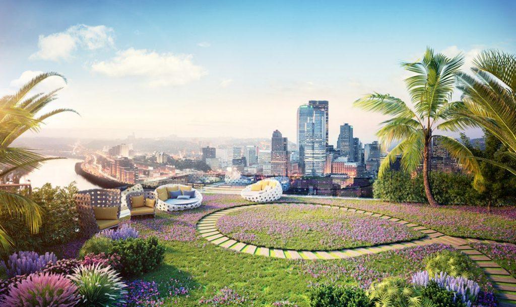Imperia Sky Garden - nơi cuộc sống lãng mạn ngập tràn sắc xanh