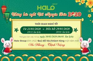 Halo Group thông báo lịch nghỉ Tết Nguyên Đán 2020!