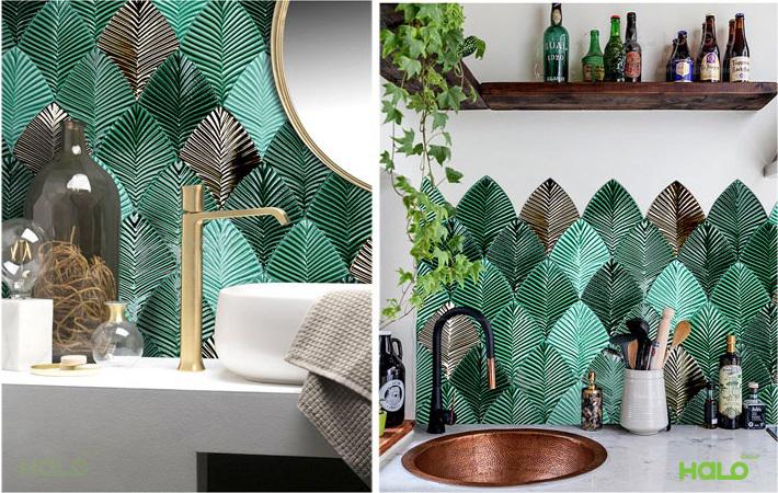 Gạch mosaic chiếc lá LYG-01