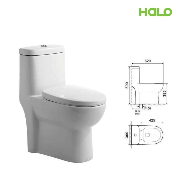 Bàn cầu HALO UD-1247-3